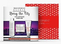 """Düfte, Parfümerie und Kosmetik Gesichtspflegeset - Transparent Clinic """"City Defense"""" (Mizellenwasser 200ml + Gesichtscreme 50ml + Sonnenschutzcreme 75ml)"""