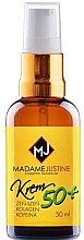 Düfte, Parfümerie und Kosmetik Gesichtscreme mit Hyaluronsäure, Ginseng, Kollagen und Koffein 50+ - Madame Justine Moisturizing Cream With Hyaluronic Acid