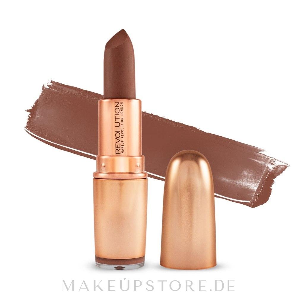 Lippenstift - Makeup Revolution Iconic Matte Nude Lipstick — Bild Inspiration