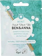 Düfte, Parfümerie und Kosmetik Fluoridfreie Zahnputztabletten mit Minzgeschmack - Ben&Anna Mint Toothpaste Tablets Without Fluoride