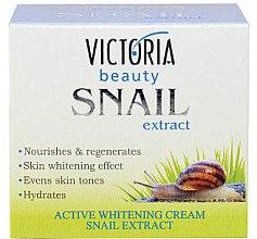 Düfte, Parfümerie und Kosmetik Regenerierende und aufhellende Gesichtscreme mit Schneckenextrakt - Victoria Beauty Active Whitening Cream