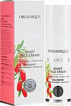 Düfte, Parfümerie und Kosmetik Aufhellende und stärkende Anti-Aging Nachtcreme - Organique Goji Anti-Ageing Therapy Night Cream