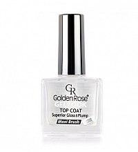 Düfte, Parfümerie und Kosmetik Glänzender Nagelüberlack mit Gel-Effekt - Golden Rose Top Coat Gel Look