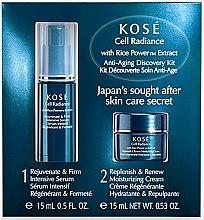 Düfte, Parfümerie und Kosmetik Gesichtspflegeset - KOSE Rice Power Extract Cell Radiance Anti-Aging Discovery Kit (Gesichtscreme 15ml + Gesichtsserum 15ml)