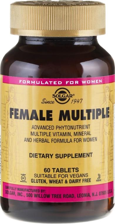 Nahrungsergänzungsmittel Vitamin- und Mineralkomplex für Frauen - Solgar Female Multiple — Bild N1