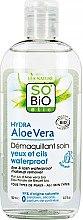 Düfte, Parfümerie und Kosmetik Make-up Entferner mit Aloe Vera - So'Bio Etic Hydra Aloe Vera Eye & Lash Waterproof Makeup Remover