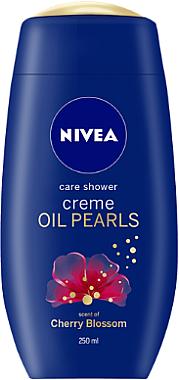 Duschcreme Kirschblüten mit Arganöl und Ölperlen - Nivea Care Shower Oil Pearls Cherry Blossom — Bild N1
