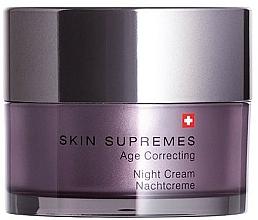 Düfte, Parfümerie und Kosmetik Regenerierende Nachtcreme für das Gesicht - Artemis of Switzerland Skin Supremes Age Correcting Night Cream