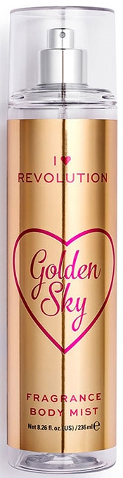 Parfümiertes Körperspray Golden Sky - I Heart Revolution Body Mist Golden Sky