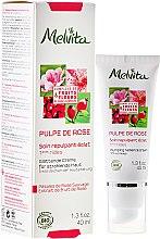 Düfte, Parfümerie und Kosmetik Glättende Gesichtscreme gegen die ersten Zeichen der Hautalterung - Melvita Pulpe De Rose Plumping Radiance Cream