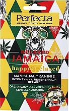 Intensiv regenerierende und entspannende Tuchmaske für das Gesicht mit Hanföl und Centella Asiatica - Perfecta Relaxed Jamaica Happy & Relaxed — Bild N1