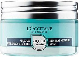 Düfte, Parfümerie und Kosmetik Feuchtigkeitsspendende mineralische Gesichtsmaske mit Quellenwasser - L'Occitane Aqua Reotier Mineral Moisture Mask