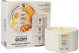 Düfte, Parfümerie und Kosmetik Soja-Duftkerze Mango Delight - House of Glam Raw White Collection Mango Delight Candle
