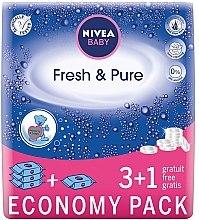 Düfte, Parfümerie und Kosmetik Sanfte erfrischende Feuchttücher für Babys 4x63 St. - Nivea Baby Pure & Fresh