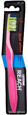 Zahnbürste weich Dual Effect rosa - Listerine Reach Dual Effect Soft — Bild N1