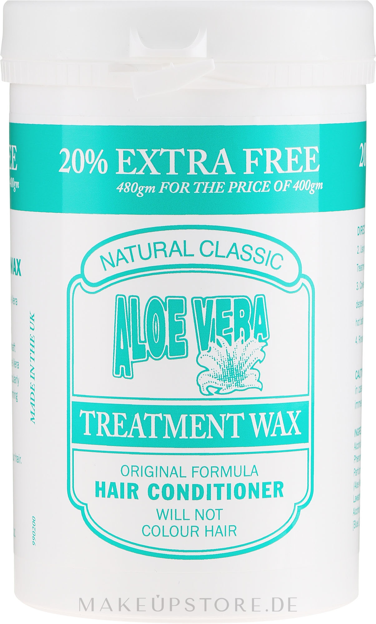 Haarspülung mit Aloe Vera - Natural Classic Aloe Vera — Bild 480 g