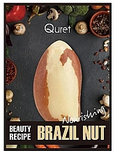 Düfte, Parfümerie und Kosmetik Nährende Gesichtsmaske mit Paranuss-Extrakt - Quret Beauty Recipe Mask Brazil Nut Nourishing