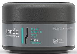 Düfte, Parfümerie und Kosmetik Mattierender Modellierkitt Flexibler Halt - Londa Professional Men Shift It Matt Clay