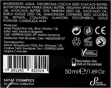 Revitalisierende Gesichtscreme mit Goldparikeln und Arganöl - Hristina Cosmetics Sayaz Gold Particles And Argan Oil Revitalizing Face Cream 24H — Bild N3