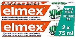 Düfte, Parfümerie und Kosmetik Mundpflegeset - Elmex Junior Toothpaste (Zahnpasta 2x 75ml)