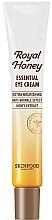 Düfte, Parfümerie und Kosmetik Intensiv pflegende Anti-Falten Augenkonturcreme mit Honigextrakt - Skinfood Royal Honey Essential Eye Cream