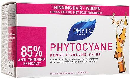 Ampullen gegen Haarausfall für die Frauen mit Ginkgo-Extrakt - Phytocyane Serum Antichute — Bild N1