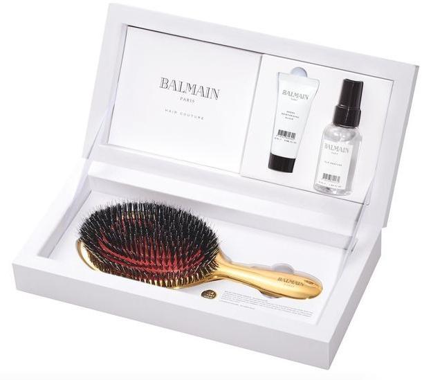 Haarpflegeset - Balmain Paris Hair Couture Luxurious Golden Spa (Haarparfüm 50ml + Haarelixier 20ml + Haarbürste) — Bild N1