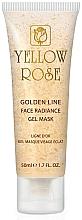 Düfte, Parfümerie und Kosmetik Verjüngende Gesichtsgel-Maske mit Gold, Seide und Kollagen für strahlende Haut - Yellow Rose Golden Line Face Radiance Gel Mask (Tube)
