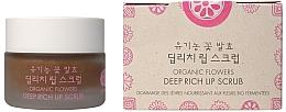 Düfte, Parfümerie und Kosmetik Reichhaltiges Lippenpeeling mit Enzymen von Bio-Blumen - Whamisa Organic Flowers Deep Rich Lip Scrub