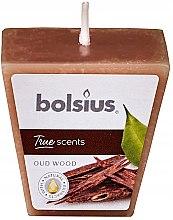 Düfte, Parfümerie und Kosmetik Votivkerze Oud Wood Square - Bolsius True Scents Votive Candle 47x47 mm