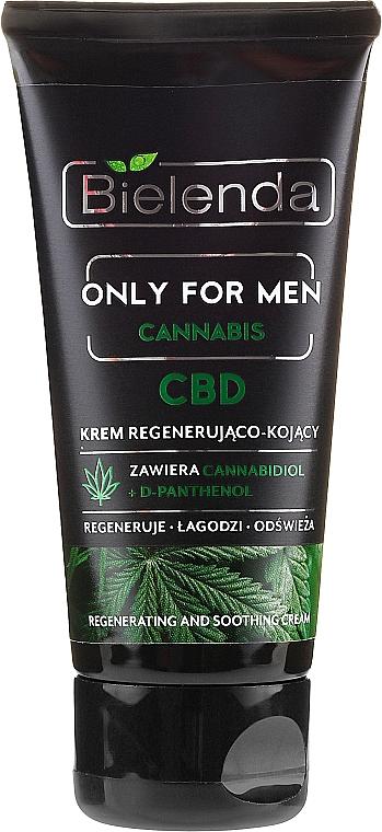 Regenerierende und beruhigende Gesichtscreme mit Cannabidiol und D-Panthenol - Bielenda Only For Men Regenerating And Soothing Cream — Bild N2