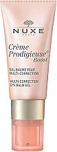 Düfte, Parfümerie und Kosmetik Korrigierende Augengel-Spülung - Nuxe Creme Prodigieuse Boost Multi-Correction Eye Balm Gel