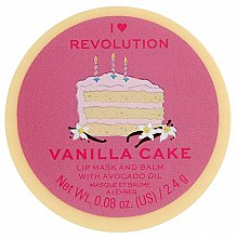 Lippenmaske-Balsam Vanillekuchen - I Heart Revolution Vanilla Cake Lip Mask & Balm — Bild N1