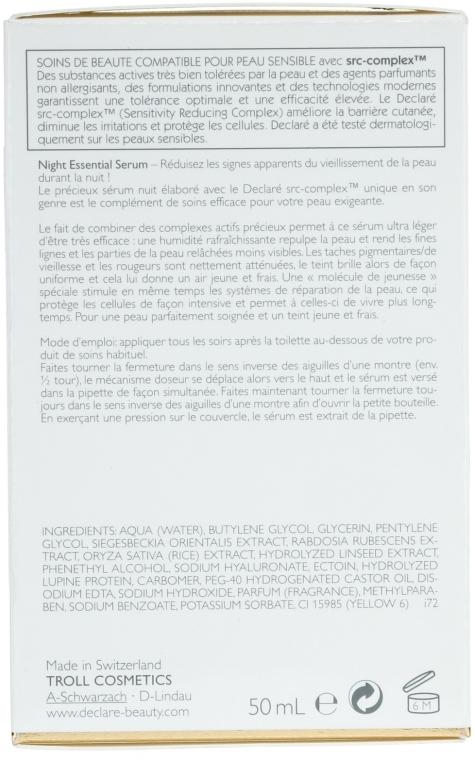 Regenerierendes Anti-Falten-Nachtserum - Declare Age Control Night Repair Essential Serum — Bild N3