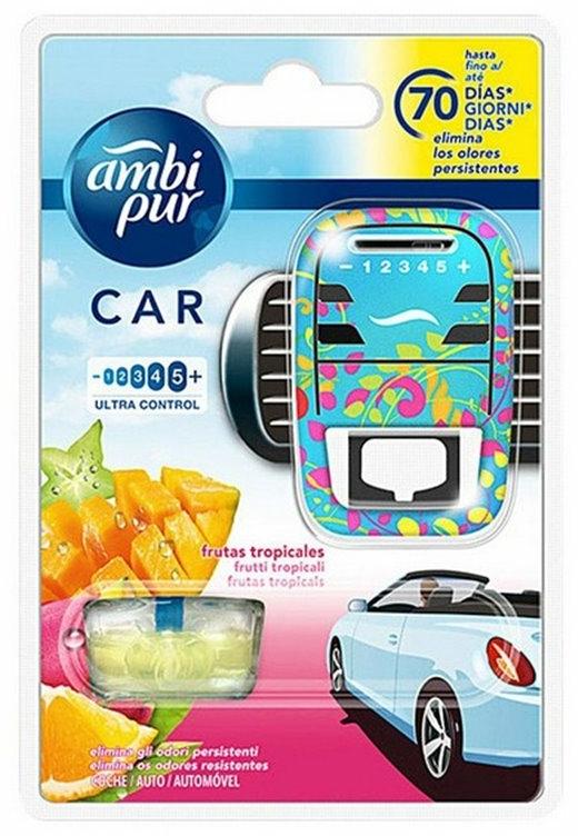 Auto-Lufterfrischer-Set Tropische Früchte - Ambi Pur (Aroma-Diffusor 1 St. + Refill 7ml) — Bild N1
