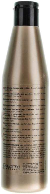 Pflegendes Protein-Shampoo mit Keratin - Salerm Linea Oro Shampoo Protein — Bild N2