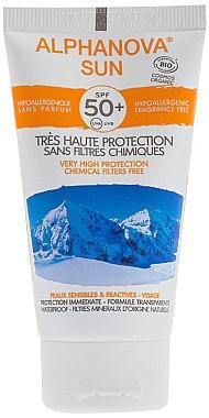 Sonnenschutzcreme für empfindliche und reaktive Haut SPF 50 - Alphanova Sun SPF 50 Sans Parfum Bio — Bild N1