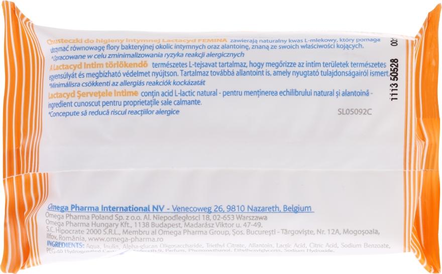 Feuchttücher für die Intimhygiene mit Allantoin - Lactacyd Femina Intimate Hygiene Wipes — Bild N2