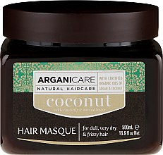 Düfte, Parfümerie und Kosmetik Regenerierende Haarmaske mit Kokos- und Arganöl - Arganicare Coconut Hair Masque For Dull, Very Dry & Frizzy Hair