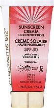 Düfte, Parfümerie und Kosmetik Wasserfeste Sonnenschutzcreme mit Vitamin B12 SPF 50 - Vitacreme B12 Sunscreen Cream High Protection SPF50