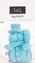 Düfte, Parfümerie und Kosmetik Handgemachte Naturseife Schneemann mit Fruchtduft - LaQ Happy Soaps Natural Soap