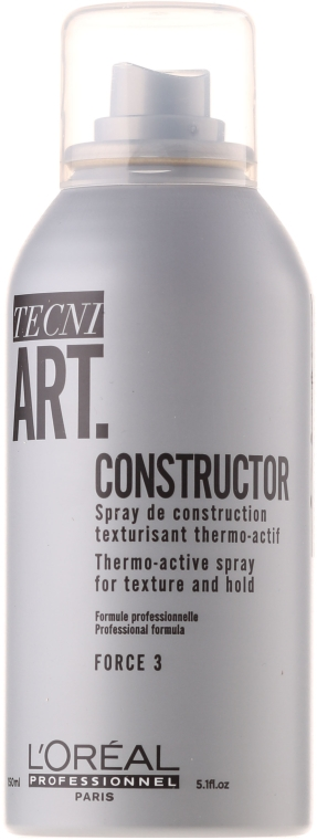 Texturierender Haarspray mit Thermoschutz - L'Oreal Professionnel Tecni.art Constructor Thermo-Active Spray