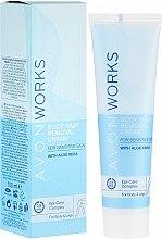 Düfte, Parfümerie und Kosmetik Enthhaarungscreme für empfindliche Haut mit Aloe Vera - Avon Works Body Hair Removal Cream