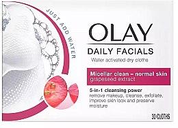 Düfte, Parfümerie und Kosmetik Wasseraktivierte Trockentücher für normale Haut - Olay Cleanse Daily Facials Eater Activated Dry Cloths