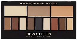 Düfte, Parfümerie und Kosmetik Lidschattenpalette mit 12 Farben - Makeup Revolution Ultra Eye Contour Light and Shade