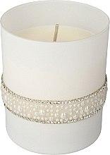 Düfte, Parfümerie und Kosmetik Dekorative Duftkerze Crystal Pearl, weiß - Artman Crystal Pearl Glass Scented Candle