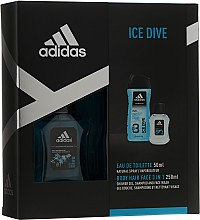 Düfte, Parfümerie und Kosmetik Adidas Ice Dive - Kosmetikset (Eau de Toilete/50ml + Duschgel/250ml)