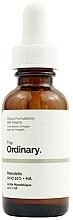 Düfte, Parfümerie und Kosmetik Gesichtspeeling mit Mandel- und Hyaluronsäure - The Ordinary Mandelic Acid 10% + HA