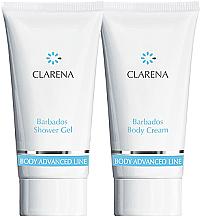 Düfte, Parfümerie und Kosmetik Körperpflegeset - Clarena Body Advanced Line Barbados (Duschgel 30ml + Körpercreme 30ml)