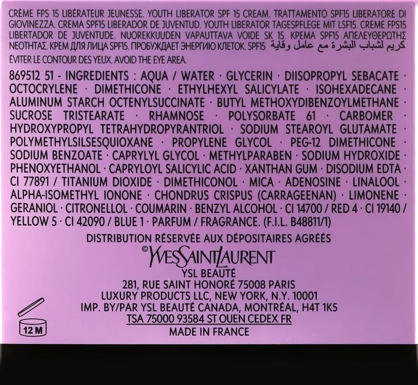 Anti-Aging Gesichtscreme mit SPF 15 - Yves Saint Laurent Forever Youth Liberator Creme SPF 15 — Bild N3